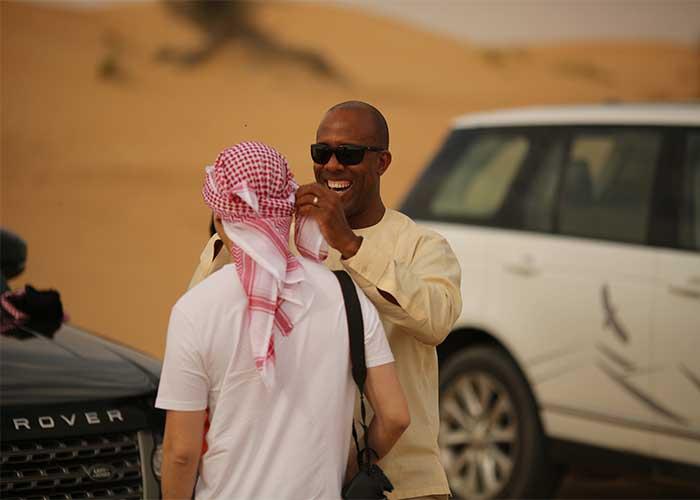 Арабский платок в пустыне