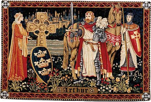 Гобелен Артур на фоне Камелота