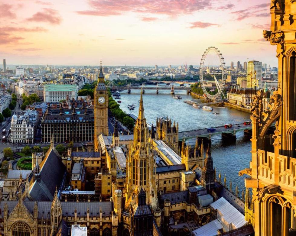 красивый вид на Лондон