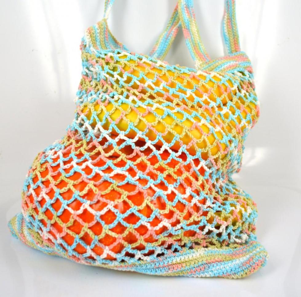Цветная сумка авоська