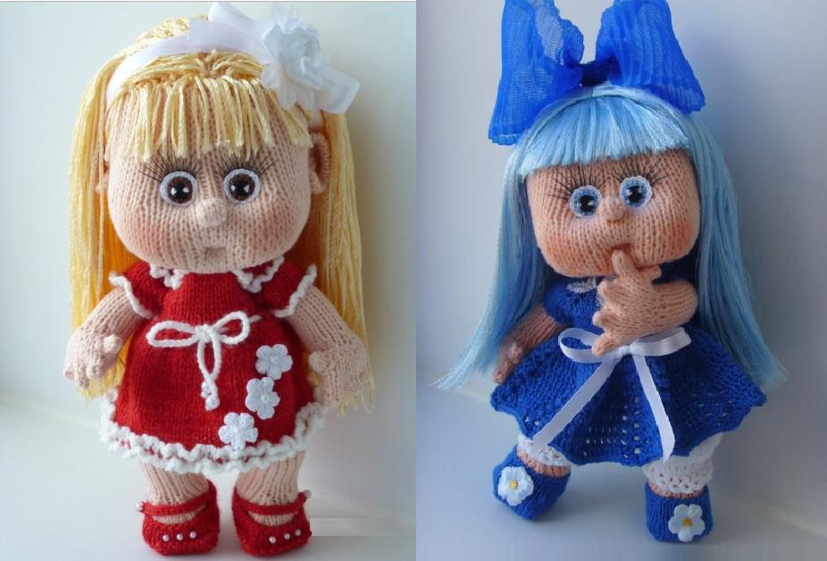 кукла спицами описание для начинающих
