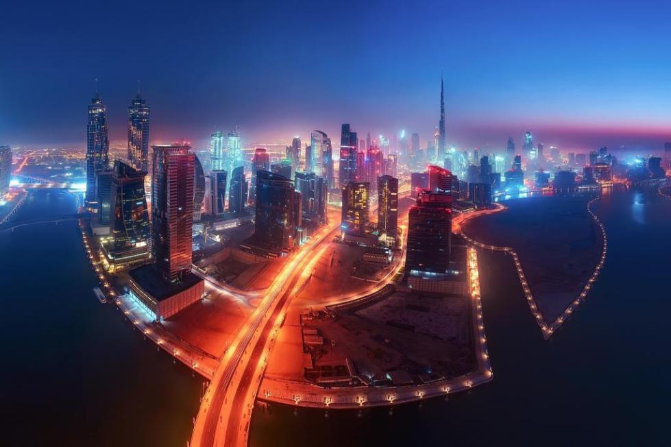 Дубай. Вид сверху