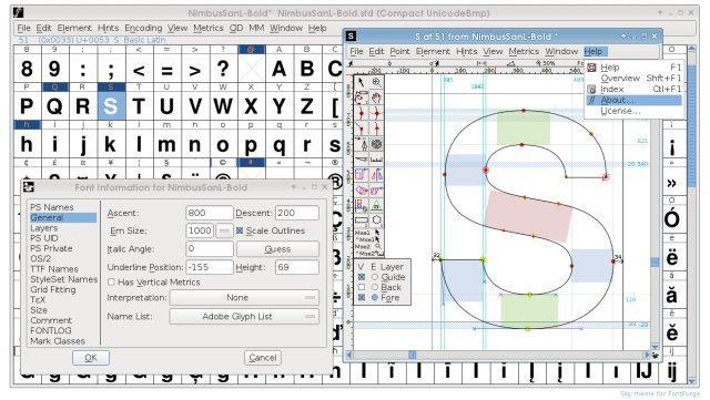 Создание шрифтов в приложении FontForge