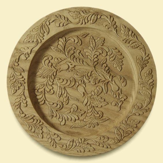 тарелка с кудринской резьбой