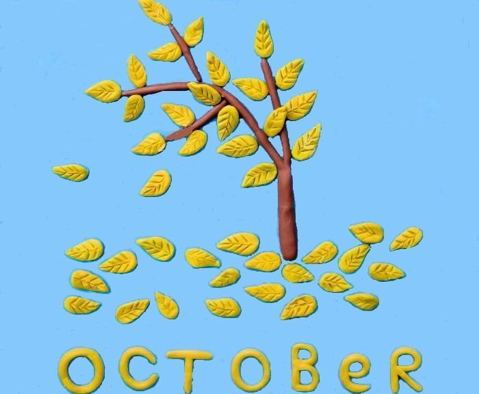 панно из пластилина осень