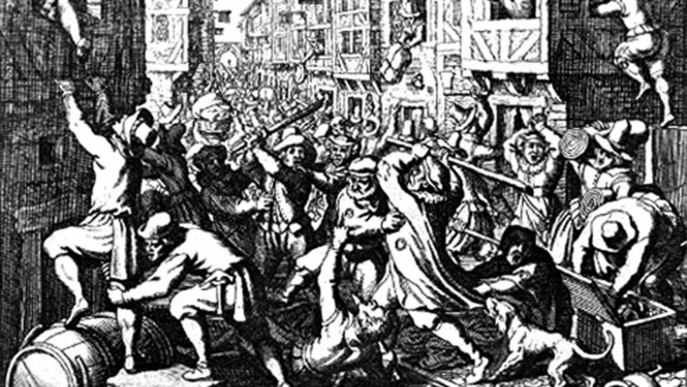 Гравюра о еврейском погроме 1614 года
