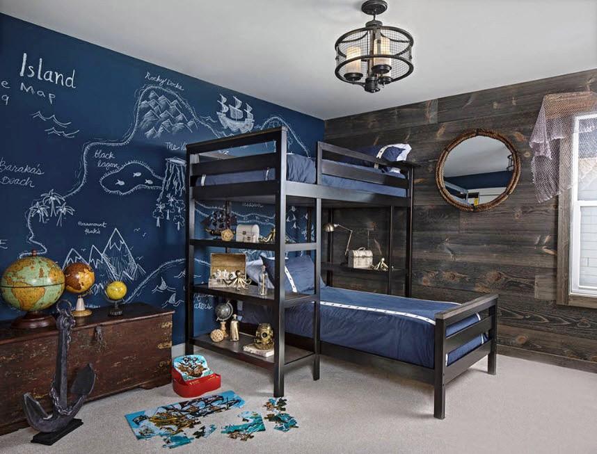 стильная детская комната для двоих