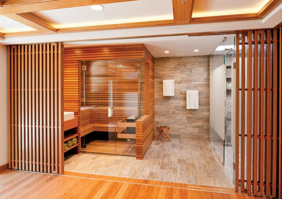 декоративная перегородка для зонирования комнаты из дерева