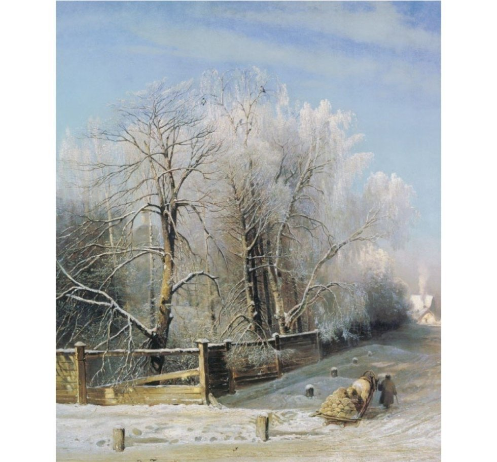 Саврасов Зимний пейзаж