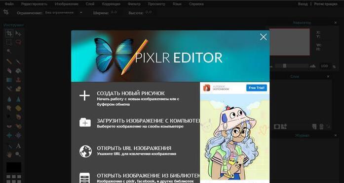 как выглядит Pixlr Editor