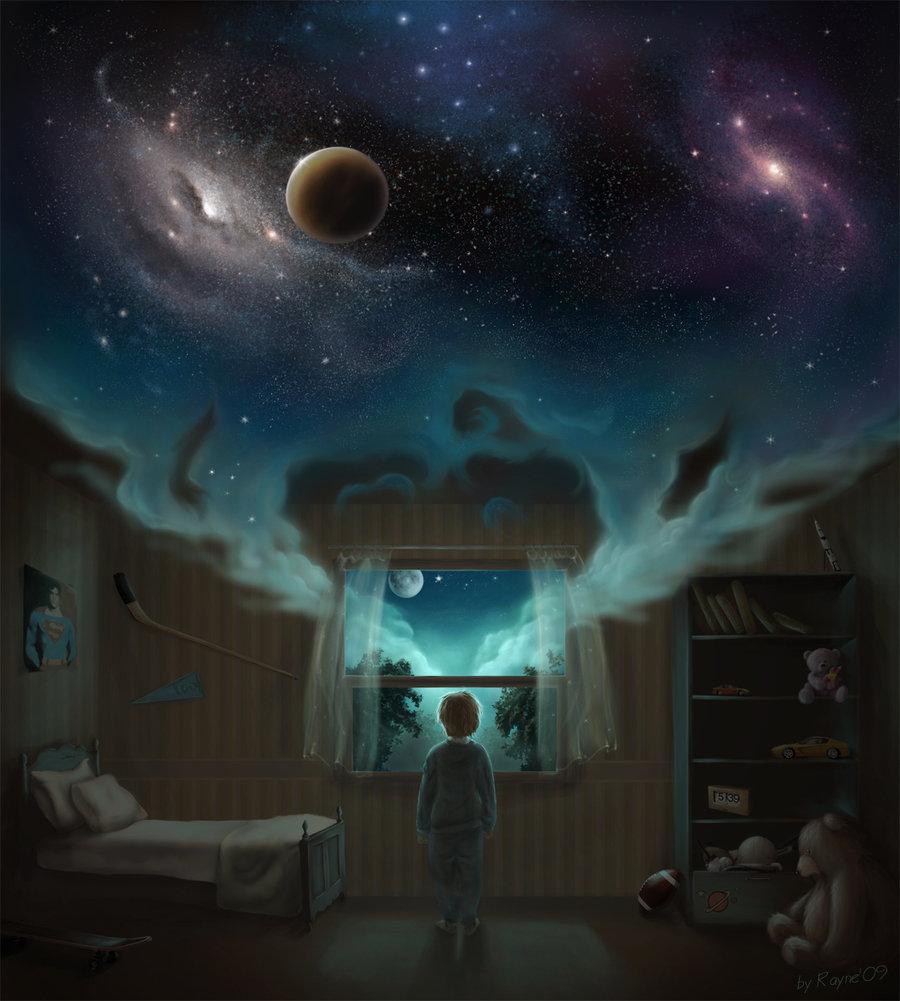 астральная прогулка по комнате