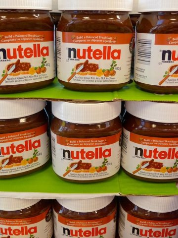Nutella im Supermarkt in Montréal