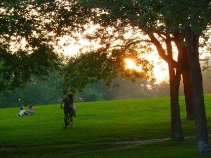 Abendlicht im Parc Jeanne-Mance, Montréal