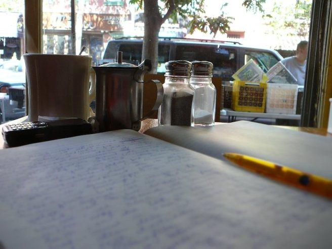 2009 im Café Bliss, Bedford Avenue, Brooklyn, NYC