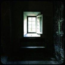 Fenster San Martin Pinario farbig Santiago de Compostela