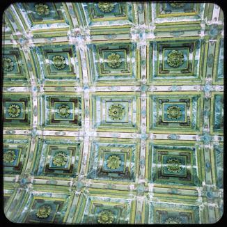 Gruene Kirchendecke Santiago de Compostela