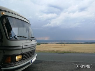 Hymermobil S660 erste Fahrt