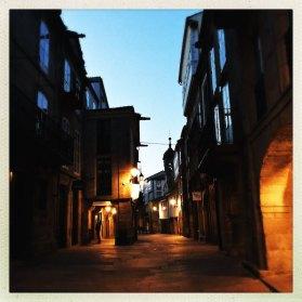 Rua Nova bei Nacht Santiago de Compostela