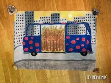 VW Bus selbstgemalt