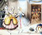 Fiordiligi y Dorabela, personajes de Cosí fan tutte por Johann Peter Lyser