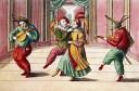 Comediantes, Grabado del siglo XVIII