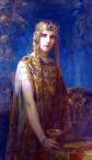 Isolde by Gaston Bussière, 1911--Great gold!