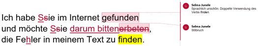 Textbeispiel Lektorat (inkl. Korrektorat)