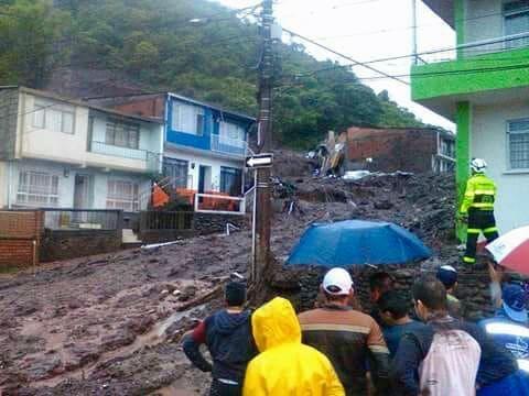 Unwetterschäden in Manizales