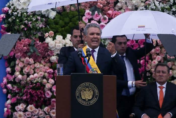 Ivan Duque bei seiner Antrittsrede am 7. August 2018 (Foto: El Universal/ Colprensa)