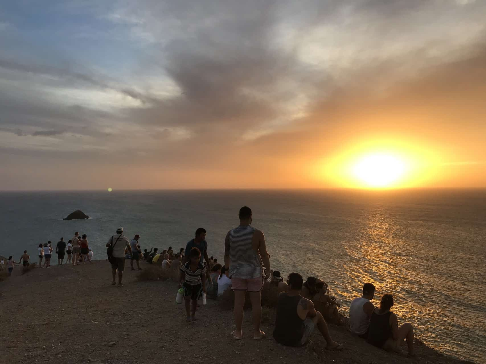 Touristenansammlung am Cabo de la Vela (Bild: M. Schäfer)