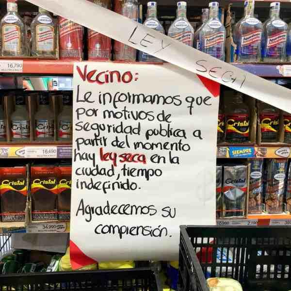 Ley seca in Manizales (Bild: M. Schäfer, Textrakt)
