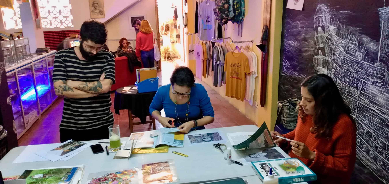 Collage-Workshop bei Luisa Velasquez (Bild: Luisa Velasquez)