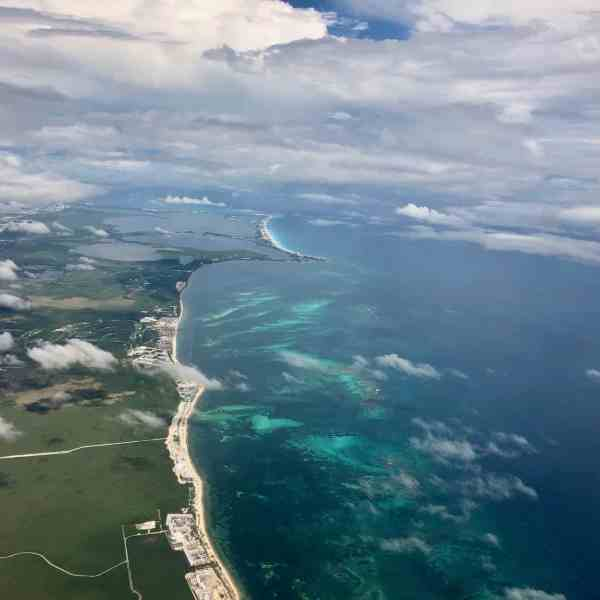 Anflug auf Cancun (Bild: M. Schäfer)