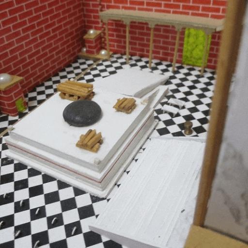 מזבח העולה - ספר בית חיינו מאיר טביב בית המקדש השני שרטוטים וצילומים
