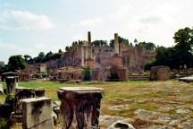 Forum Romanum - Blick von der Via Sacra auf den Palatin