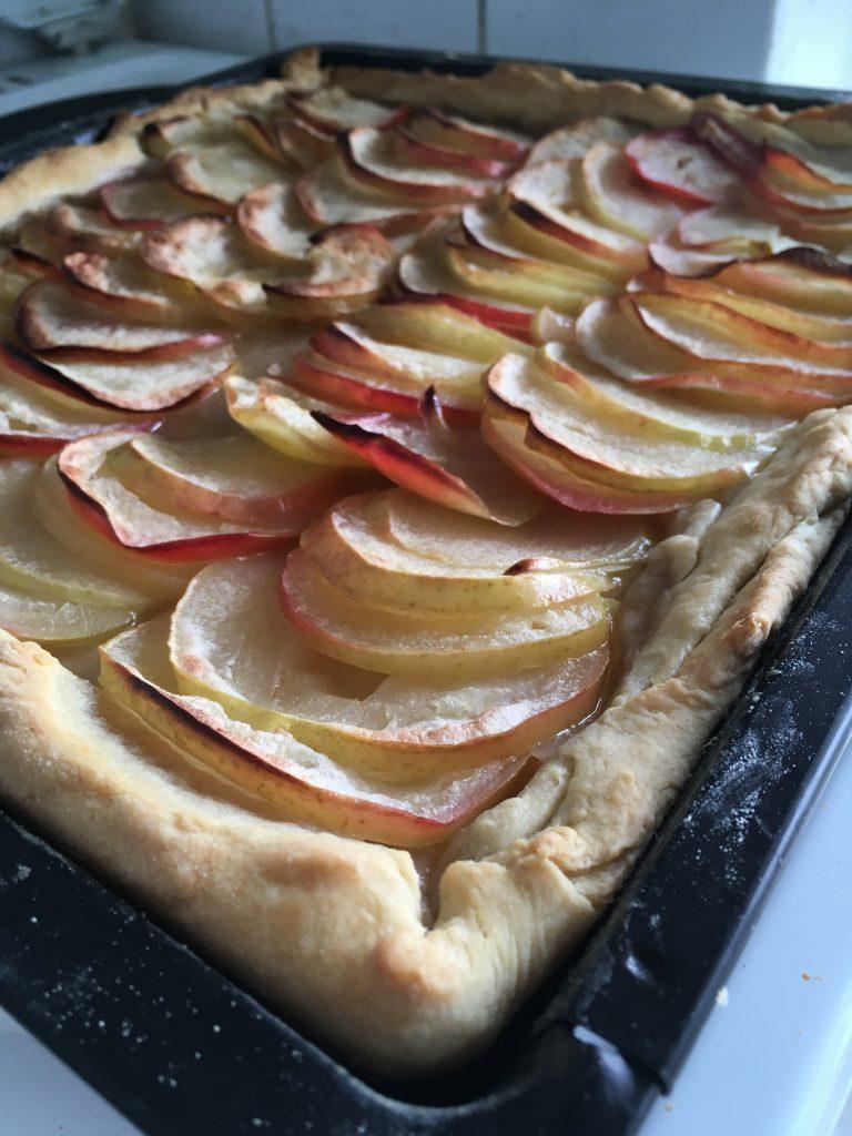 Apfelkuchen vor Glasur