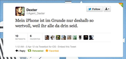 Tweet der Woche von @Agent_Dexter