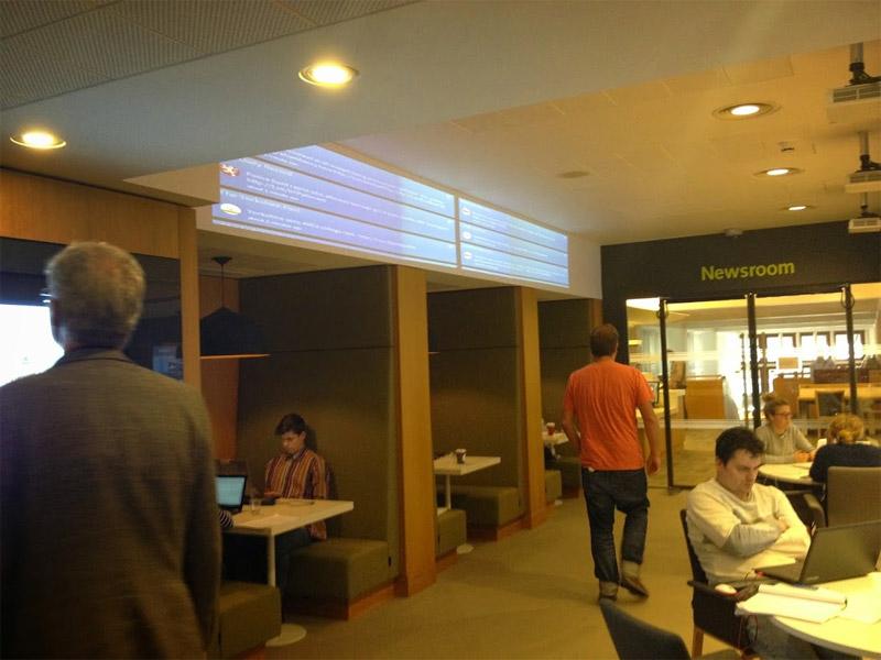 Newsroom: Twitterwall