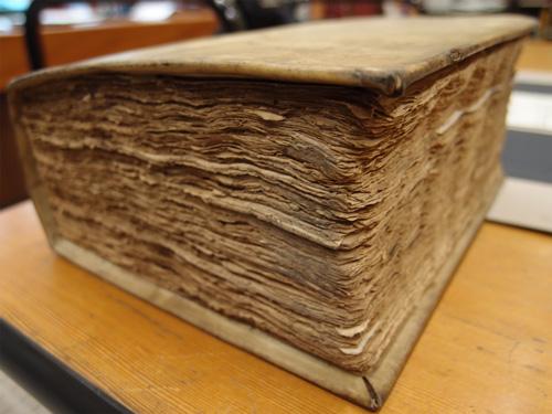 Ein Buch aus Holz