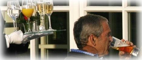 George hat wieder ins Glas geschaut...