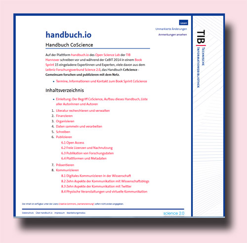 CoScience Book Sprint