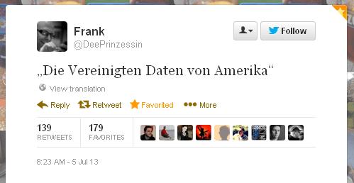 Tweet der Woche von @deeprinzessin