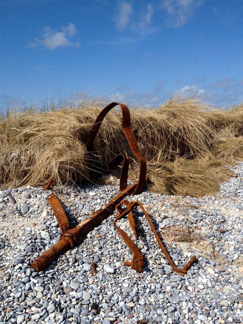Ist das Kunst oder kann das weg? Dünenrost auf Helgoland