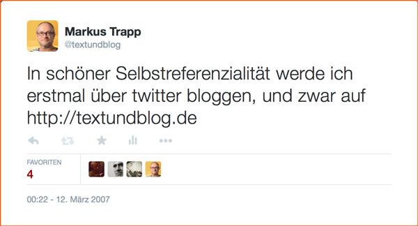 Mein erster Tweet