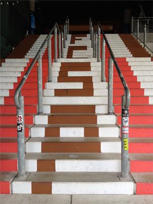 Treppe im Millerntor-Stadion