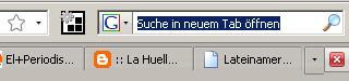 Suchfenster oben rechts in Firefox