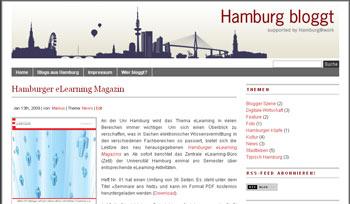 Mein Artikel über das 'eLearning-Magazin Hamburg' auf 'Hamburg bloggt'