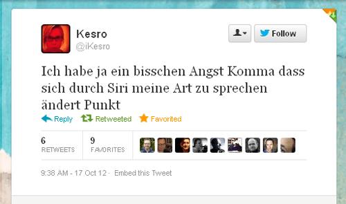 Tweet der Woche von @ikesro