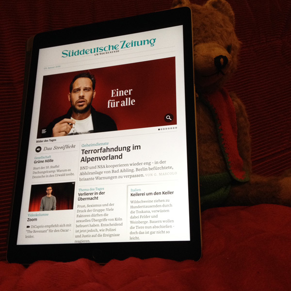 iPad Pro als Martins Versteck