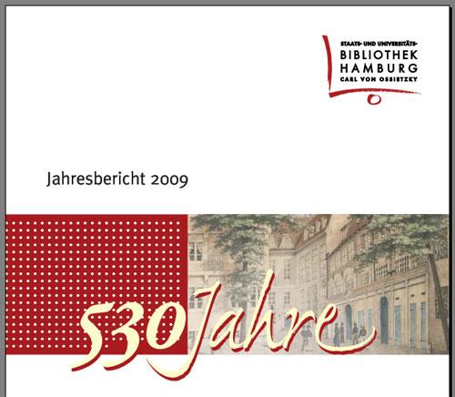 Titelblatt des Jahresberichtes 2009 der Stabi Hamburg